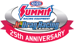 Jr. Drag Racing League 25th Anniversary logo