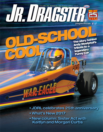 Jr. Dragster March/April 2017 cover